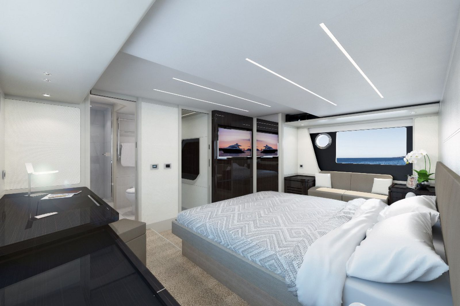 Absolute 62 Fly Master Stateroom