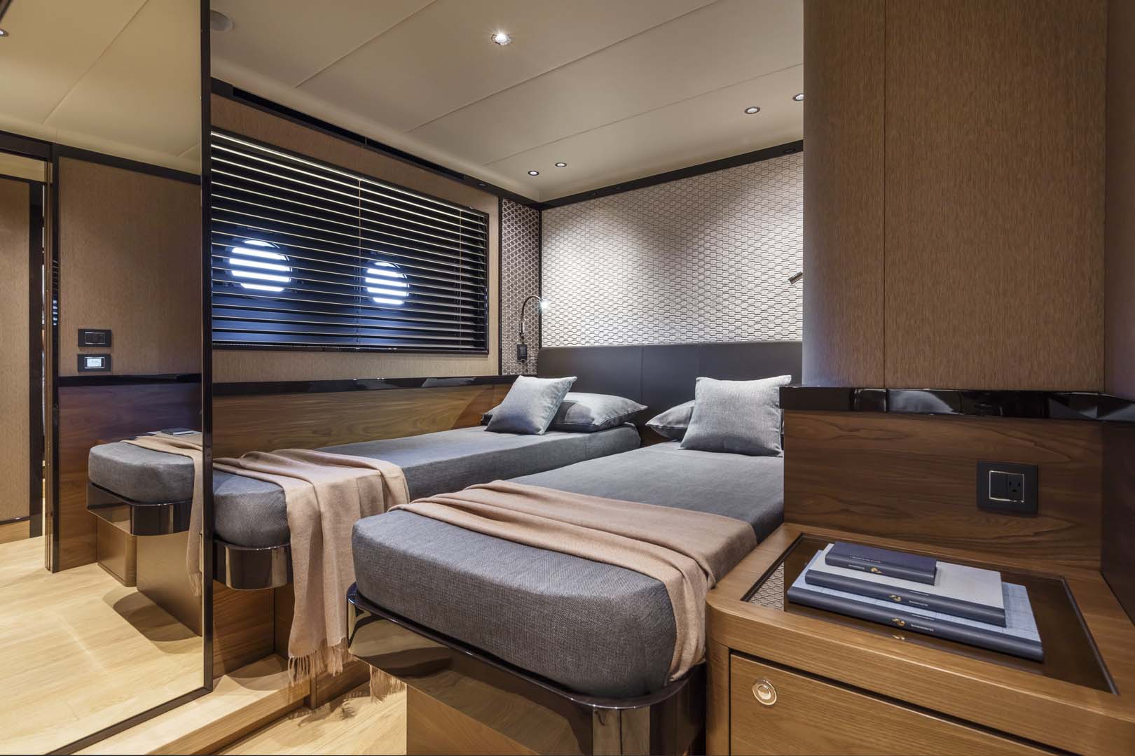 Guest cabin on the absolute navetta 68