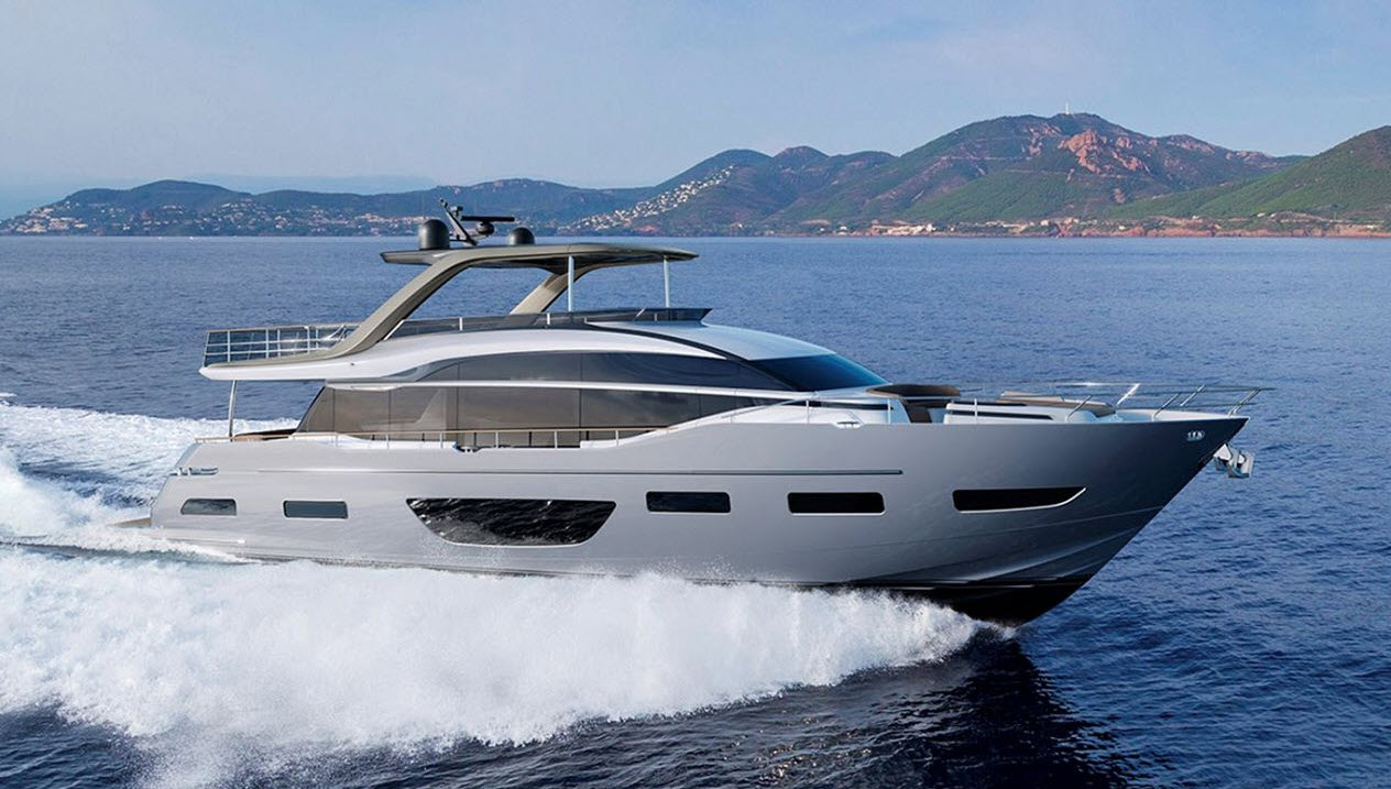 Princess Y85 Motor Yacht Palm Beach Boat Show