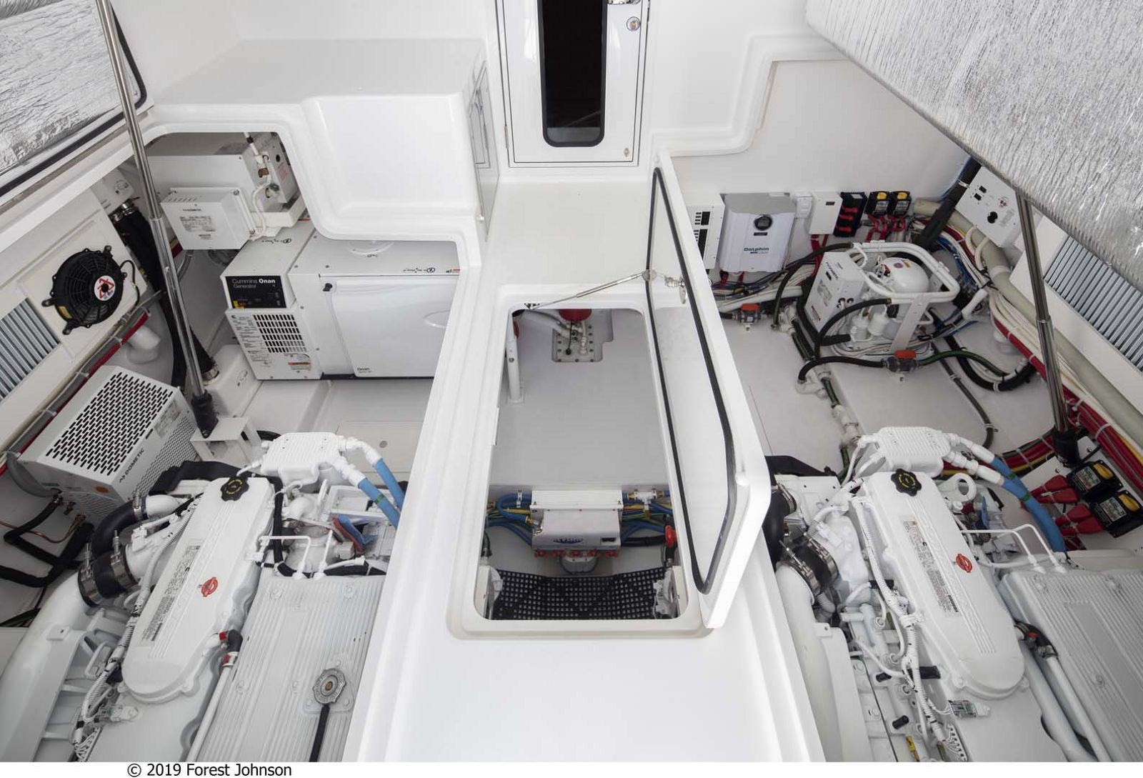 Viking 38 Billfish Engine Room