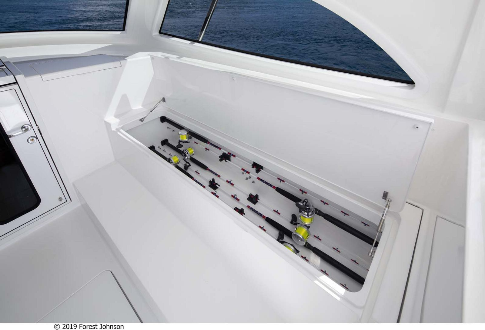 Viking 38 Billfish Rod Storage