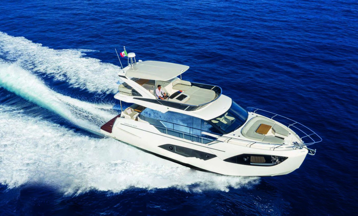 absolute yachts 47 flybridge at fort lauderdale boat show