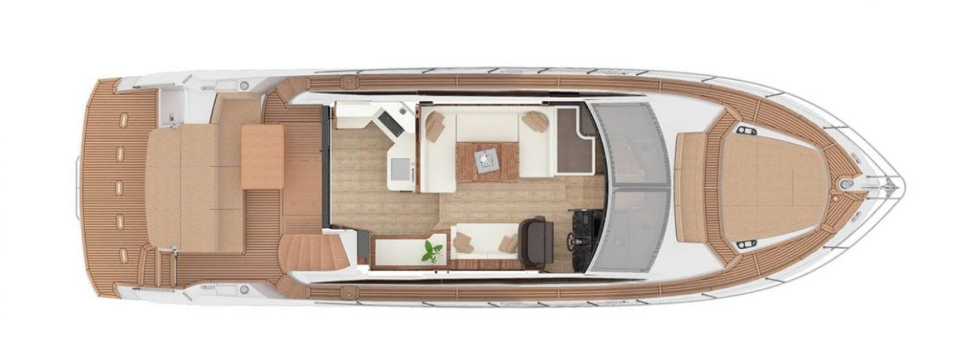 absolute yachts 50 fly interior layout