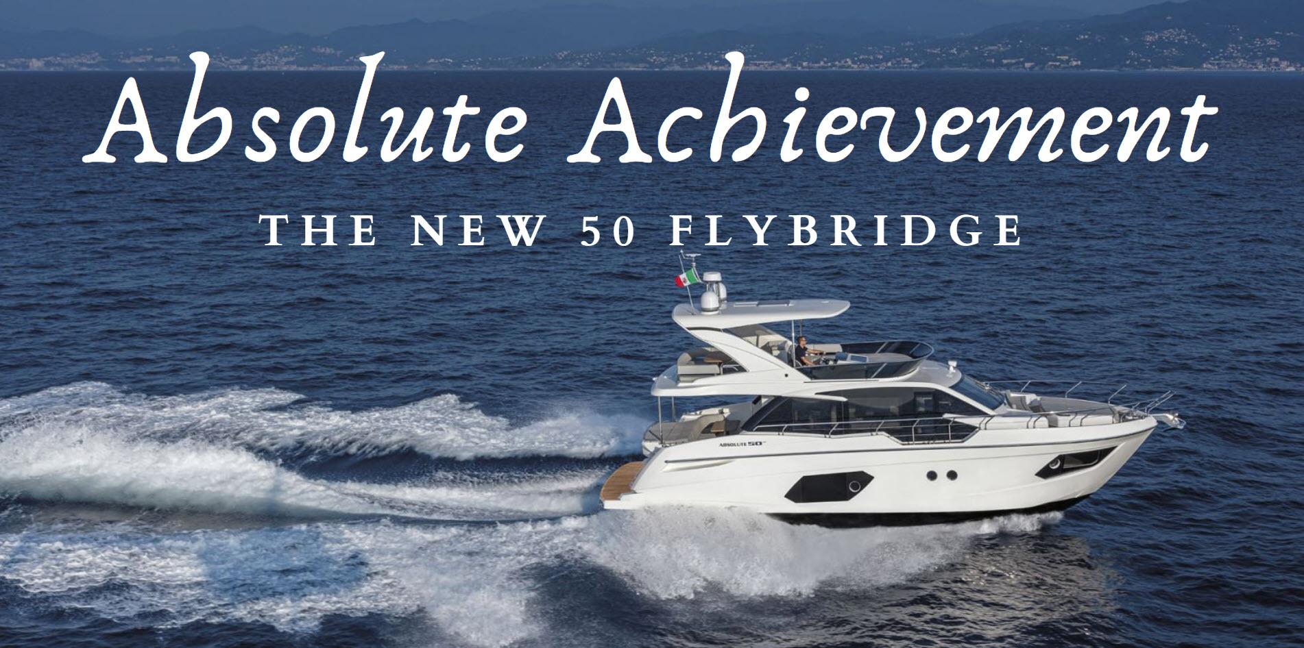 absolute 50 flybridge yacht