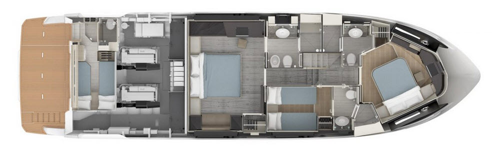 Absolute 62 Fly Lower Deck Layout