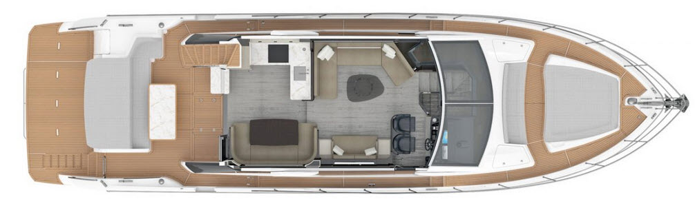 Absolute 62 Fly Main Deck Layout