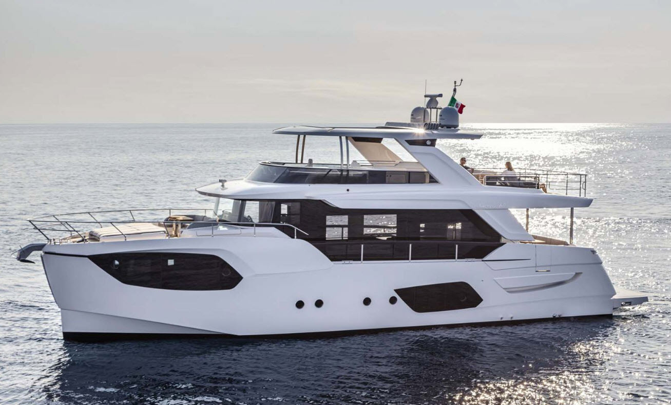 absolute 68 navetta at fort lauderdale boat show