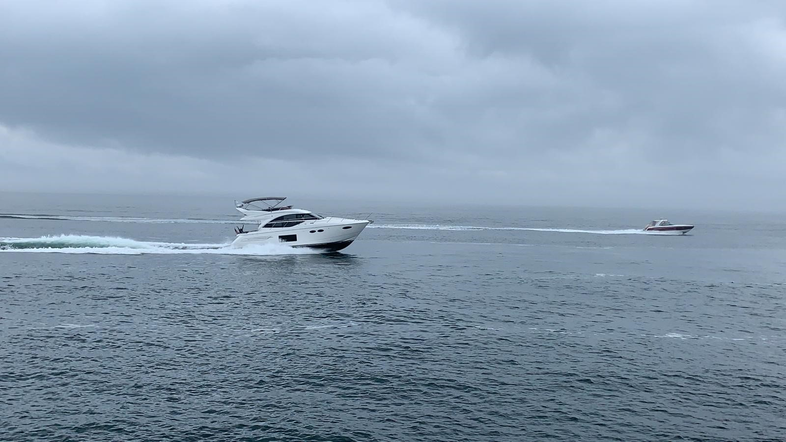 Princess Yachts running together in open water
