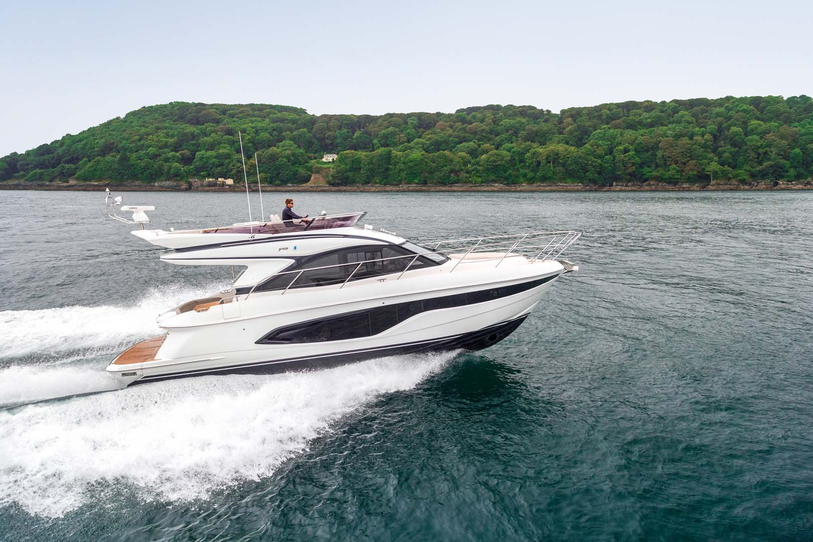 Princess F45 Flybridge Yacht for sale at fort lauderdale boat show