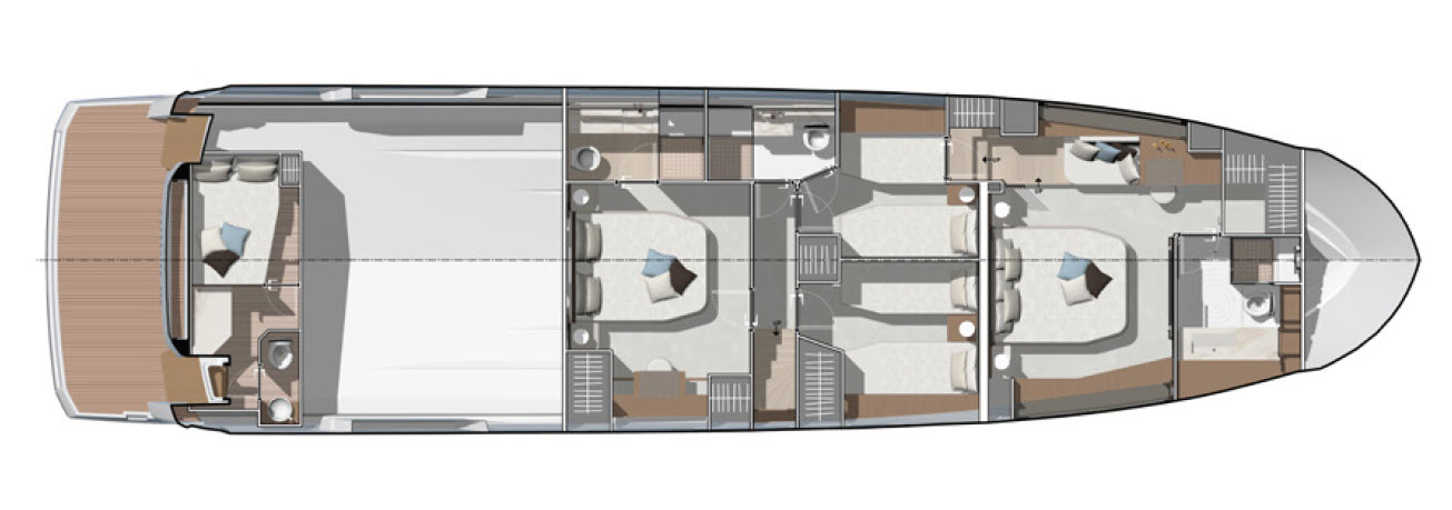 lower deck layout of X70