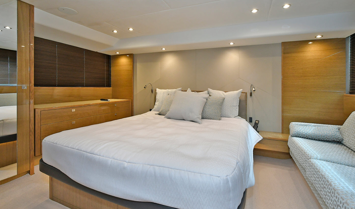 master suite on princess yacht