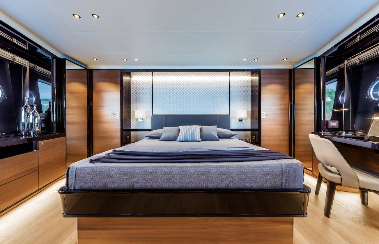 master suite on the navetta 73