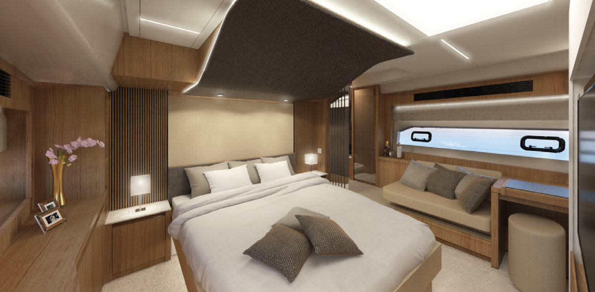 Owners stateroom on prestige x70