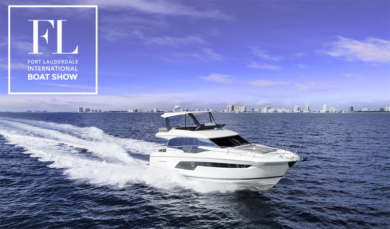 Prestige Yachts at the Fort Lauderdale Boat Show