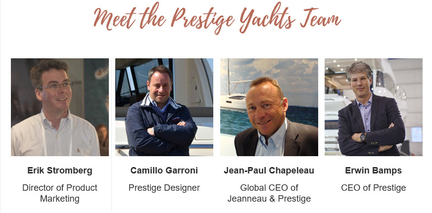 Prestige Yachts Factory Team