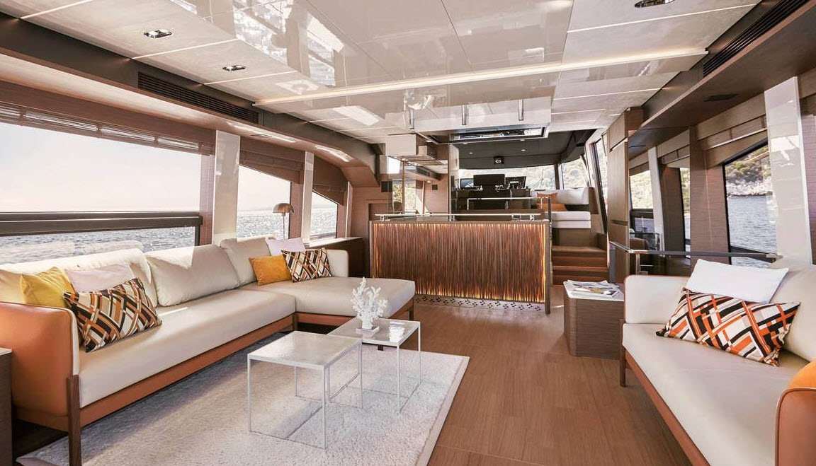 prestige yachts interior design