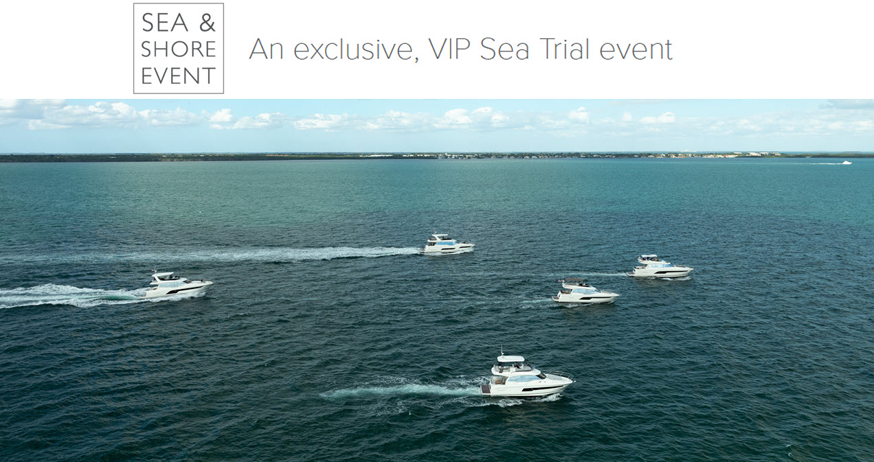 Prestige Yachts Sea Trial Event