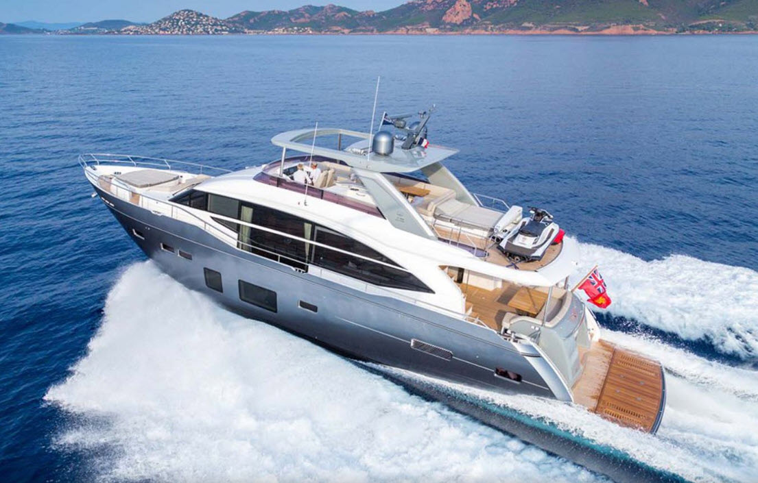 Princess Y75 Yacht For Sale At FLIBS