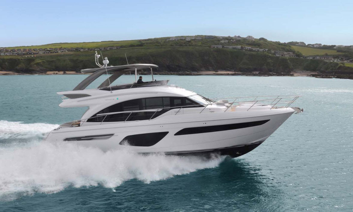 princess F62 yacht for sale at FLIBS