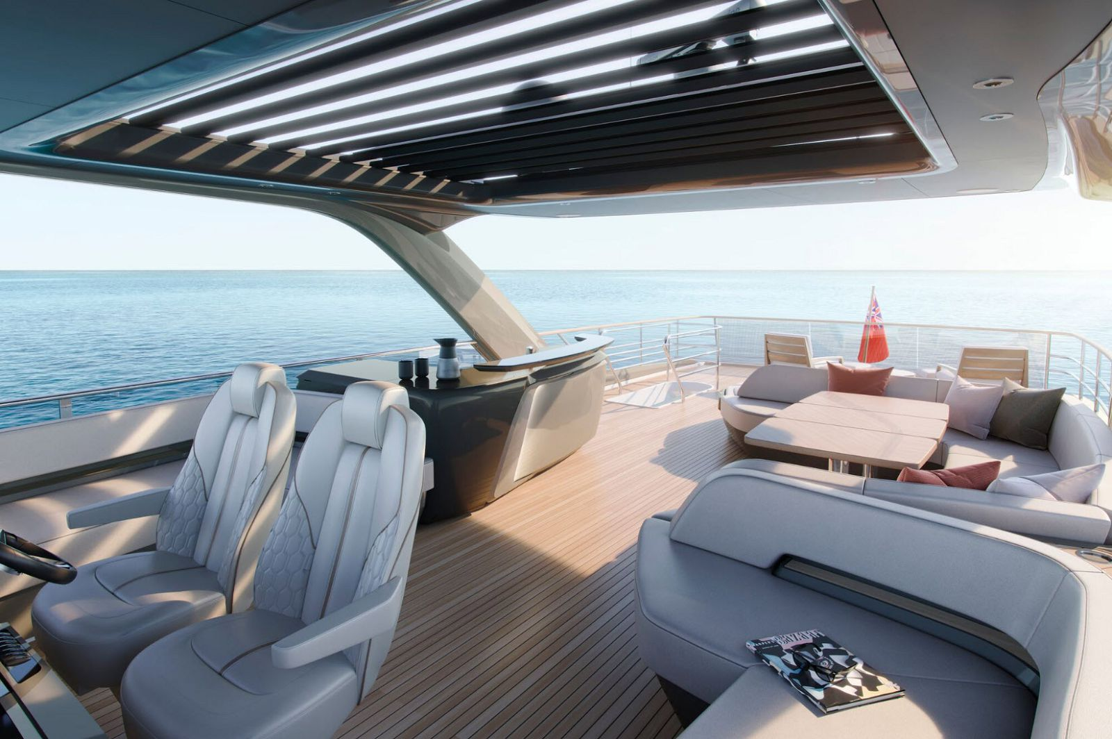 Princess Yachts Y85 Flybridge Helm