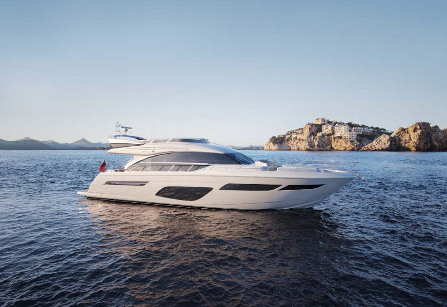 Princess-yacht-f70-flybridge-boatshow