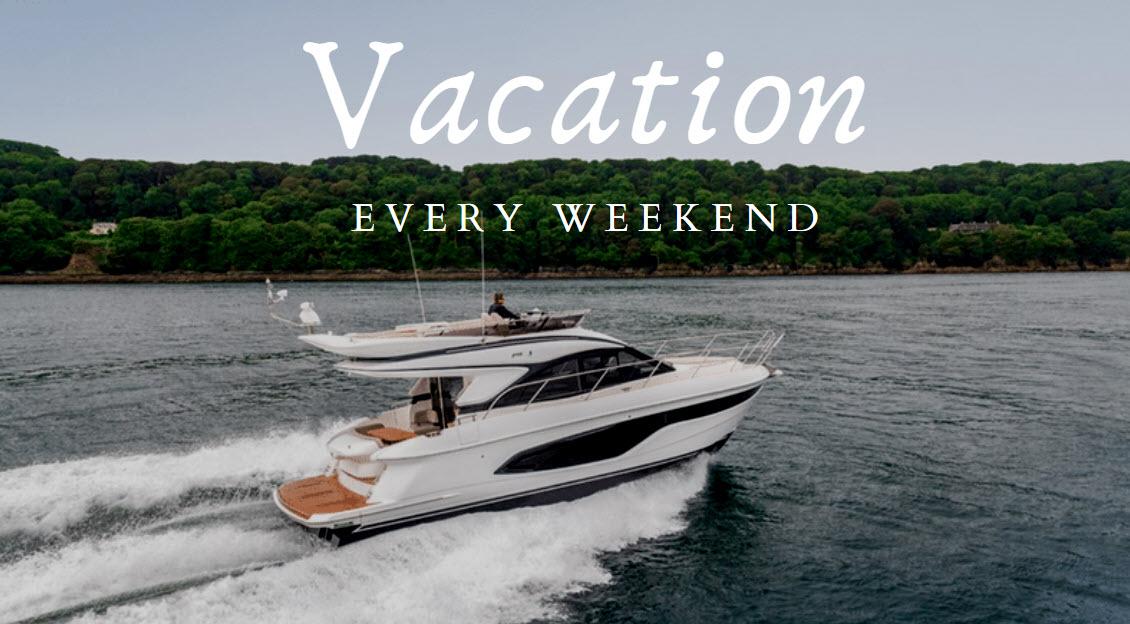 princess yachts f45 summer boating