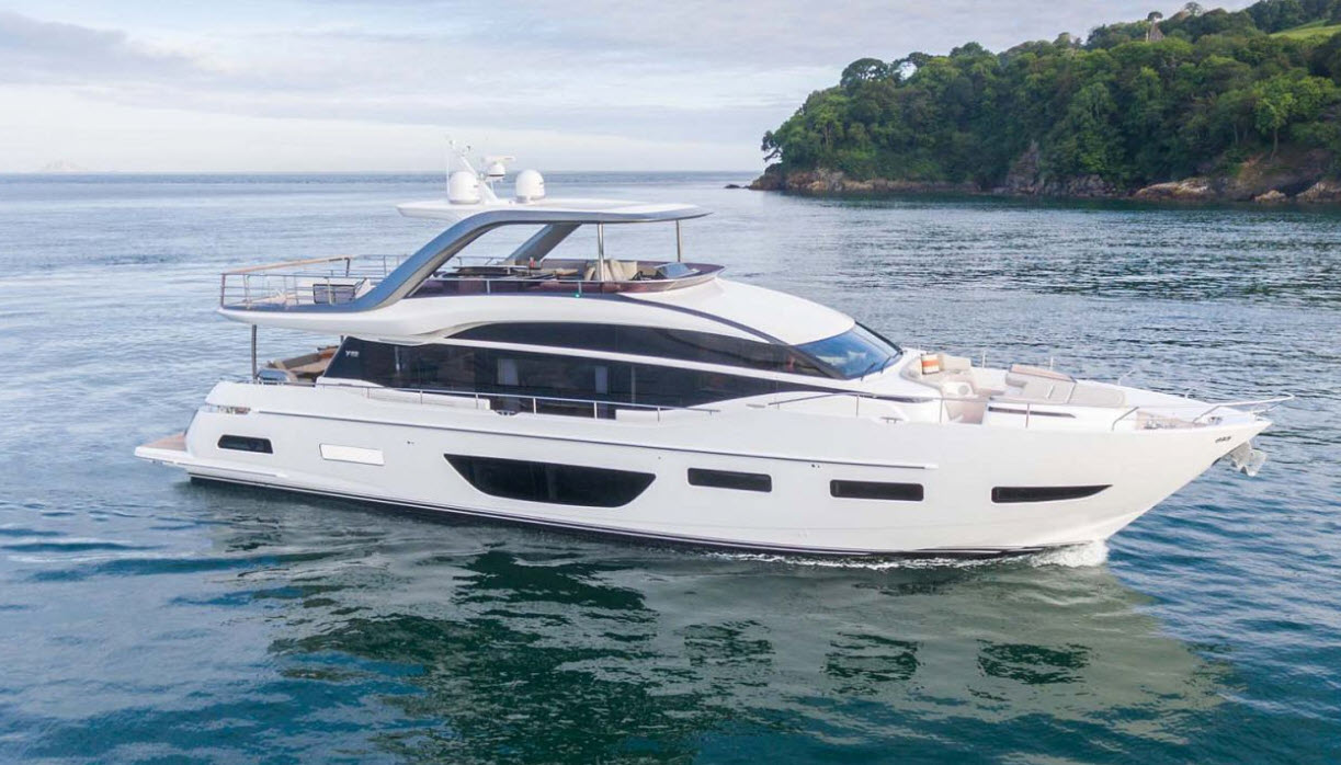 princess y85 flybridge yacht for sale
