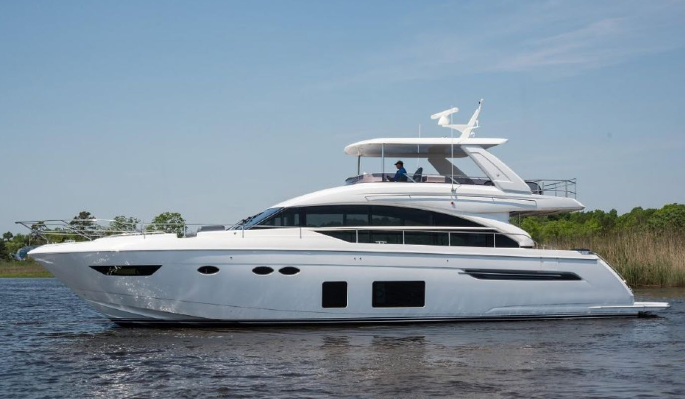 used princess yachts for sale between 60 and 70 feet
