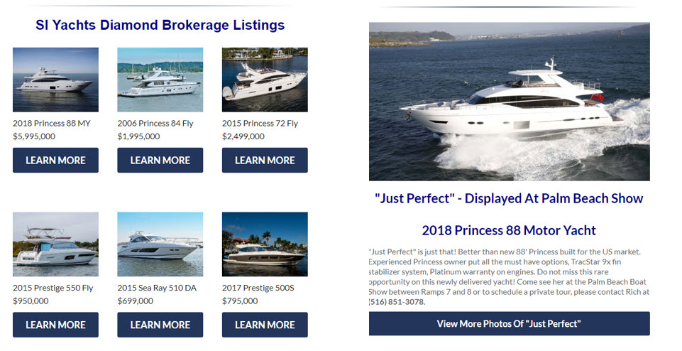 used yachts for sale email marketing