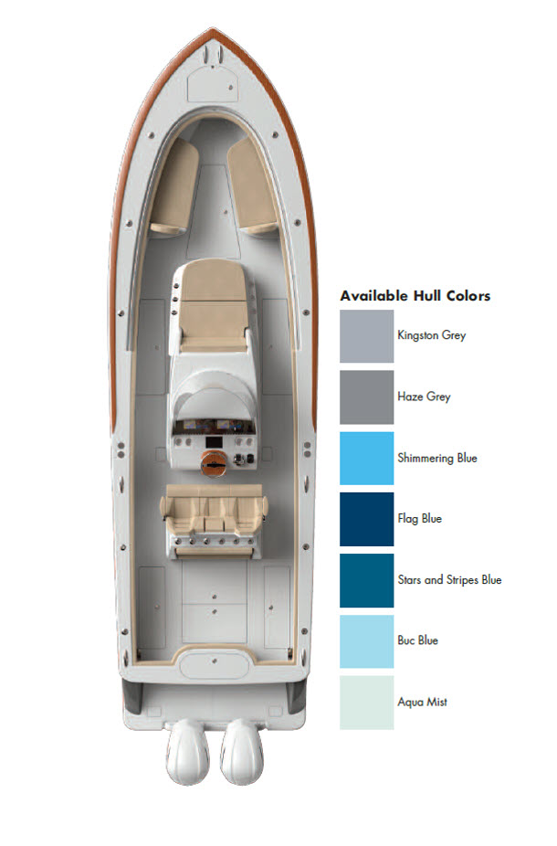 Valhalla Boatworks Available Hull Colors