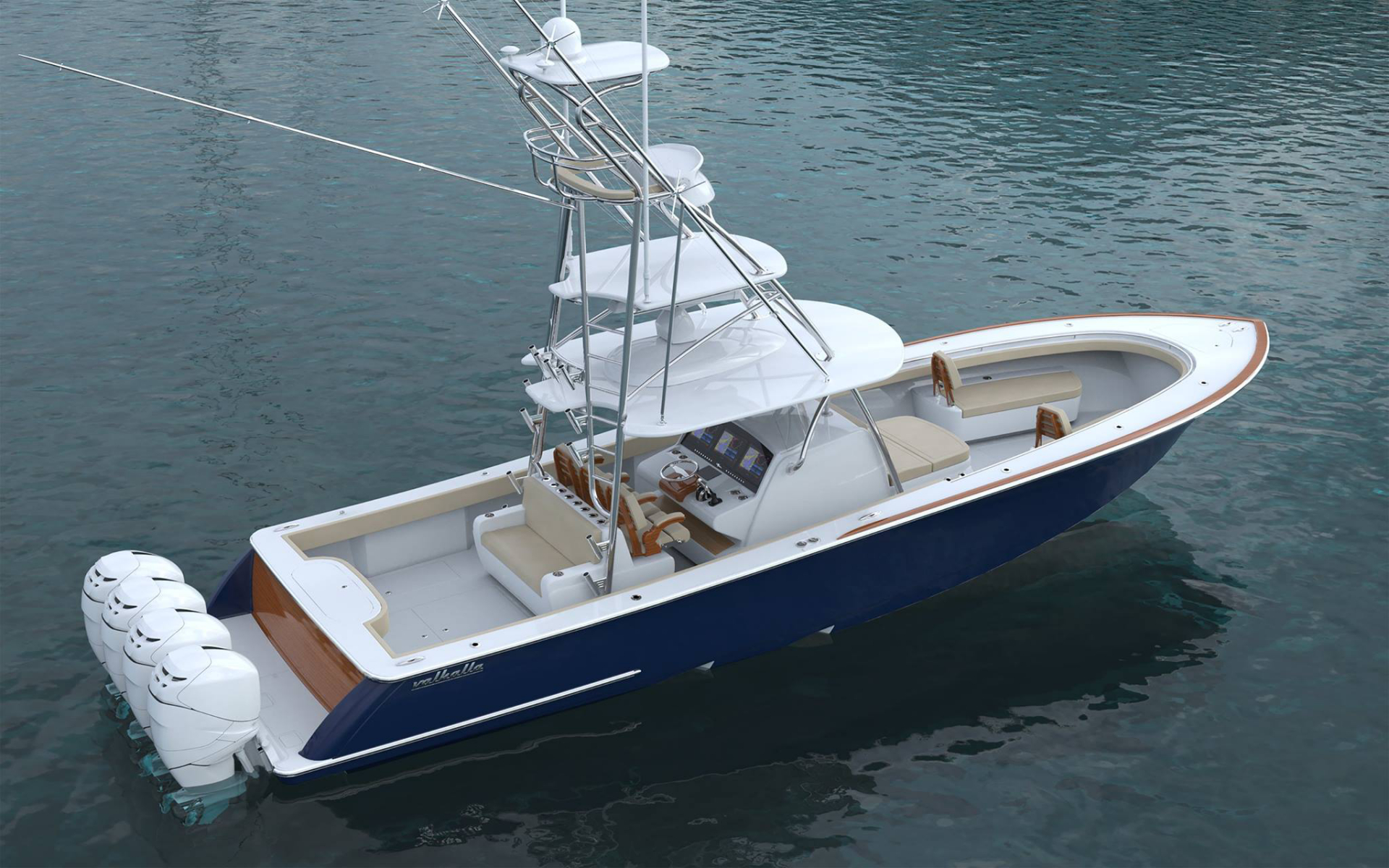 Valhalla Boatworks V41 With Tuna Tower Aft View