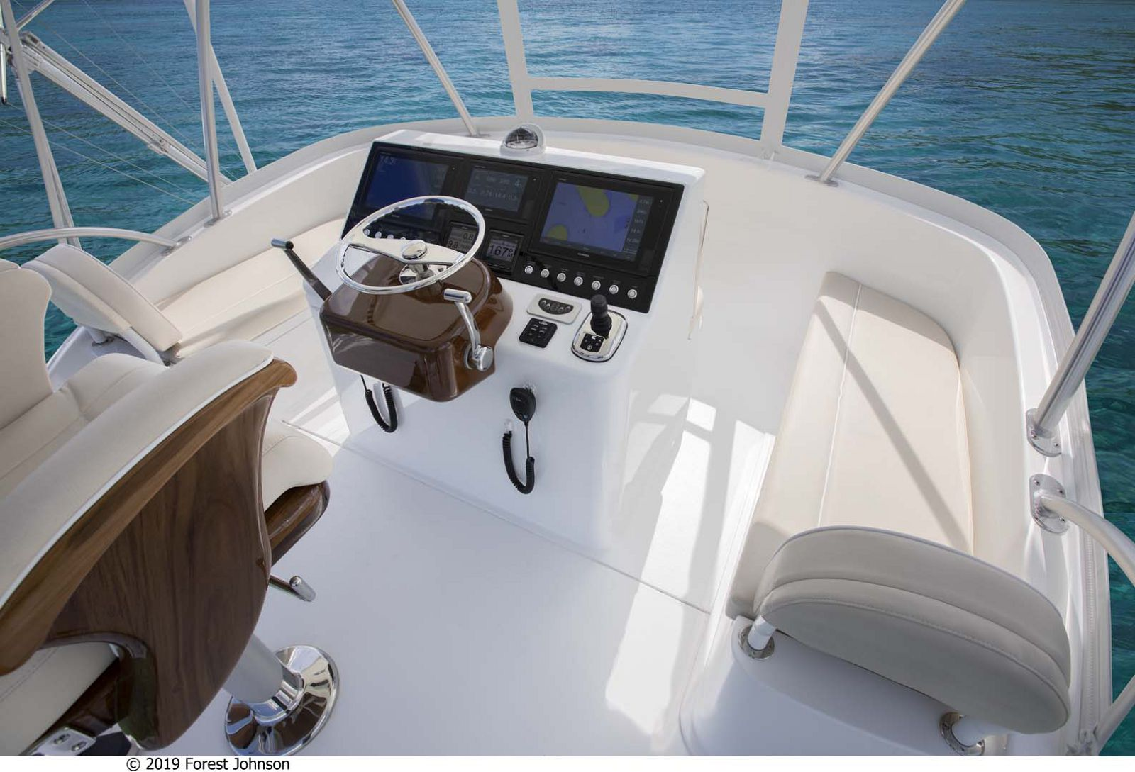 Viking 38 Billfish Flybridge Helm Station