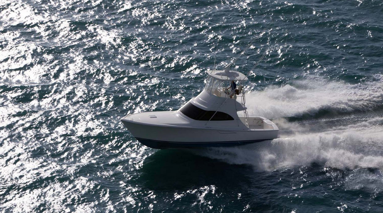 Viking 38 Billfish Running Full Speed