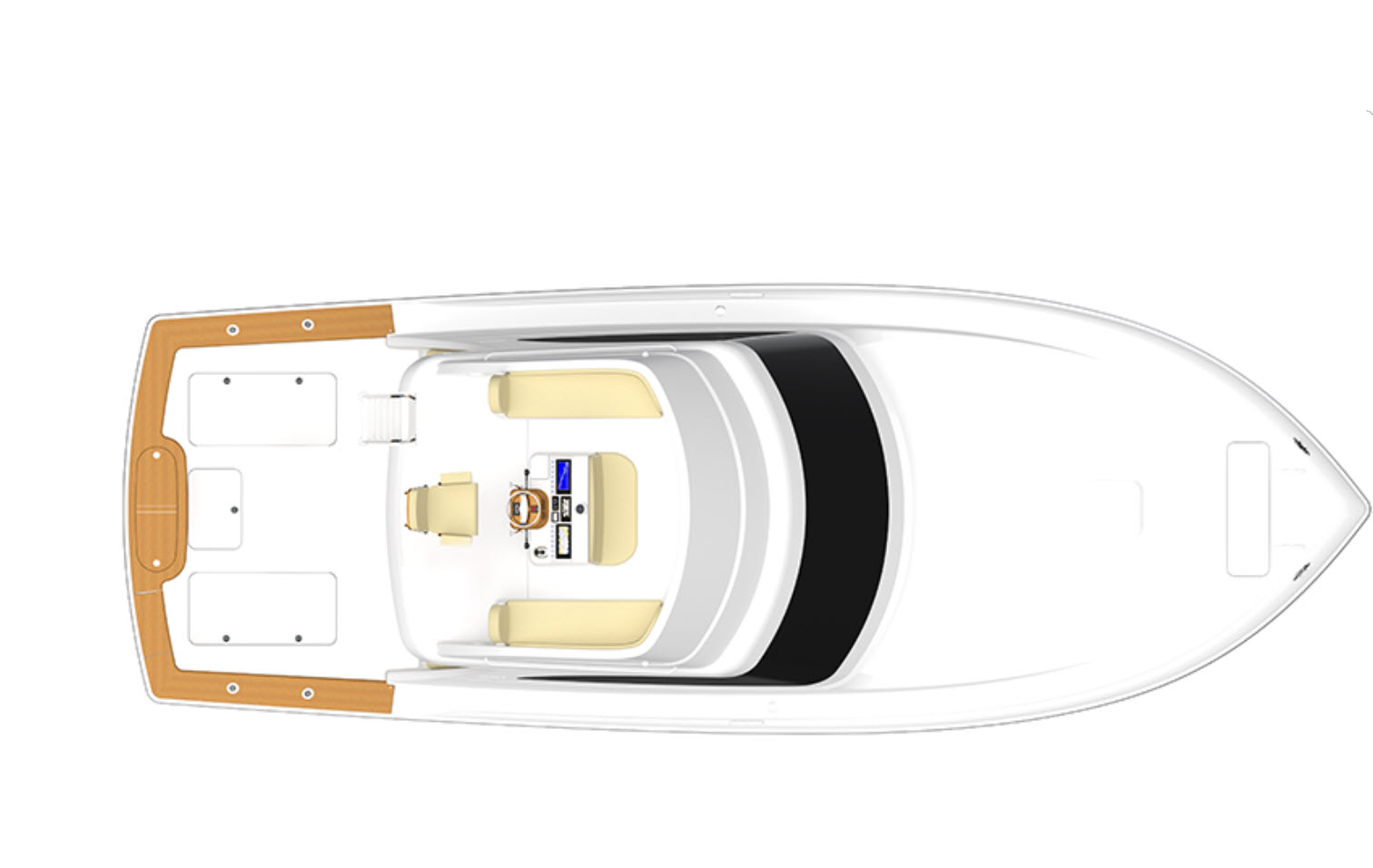 Viking Yachts layout of bridge