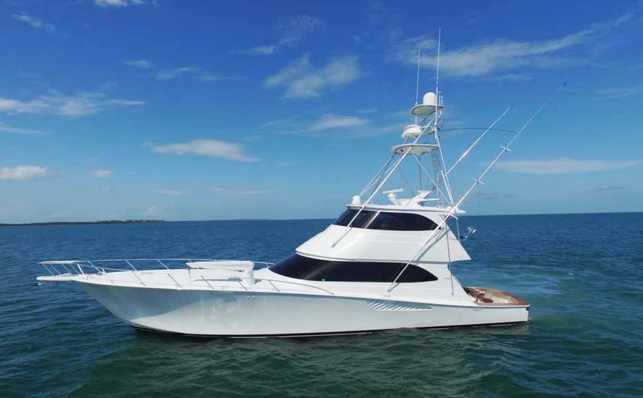 Viking yachts 70 enclosed bridge