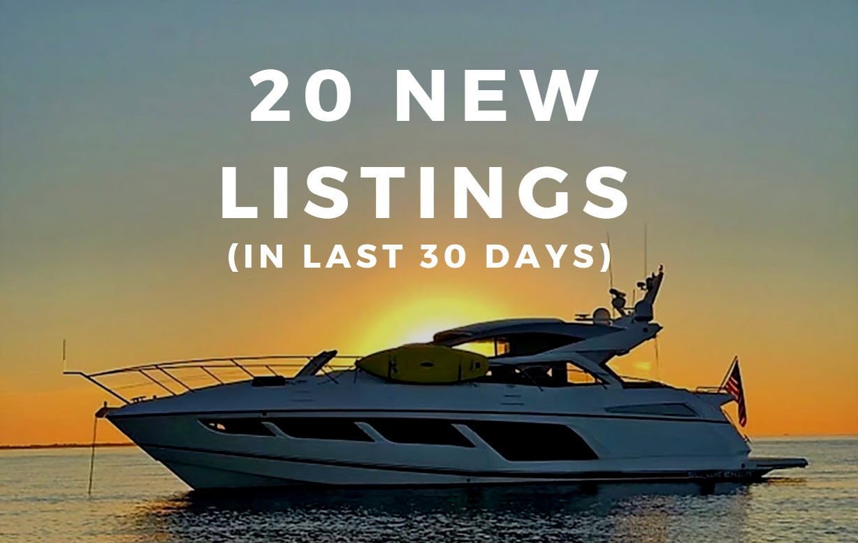 yachts for sale in last 30 days