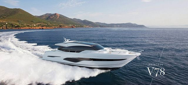 First Images Of The New Princess V78 Express Yacht
