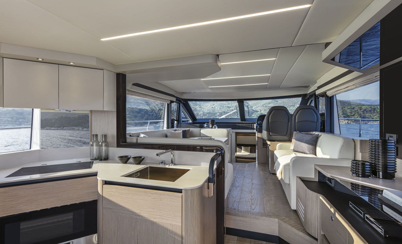 salon and galley - absolute 50 fly