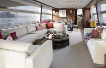 Princess Yachts 82 MY Custom Salon Sofa