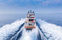 Princess Yachts 75 Motor Yacht Aerial Aft Running