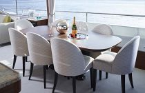 Princess Yachts 75 Motor Yacht Dining Area