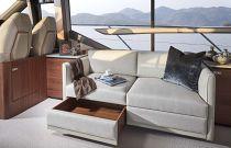 Princess Yachts 62 Flybridge Salon Settee