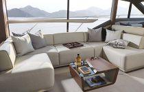 Princess Yachts F62 Salon L-Shaped Sofa