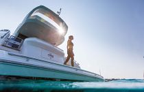 Princess 49 Flybridge Hydraulic Swim Platform