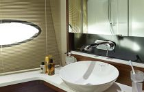 Princess Yachts 43 Flybridge Bathroom Detail