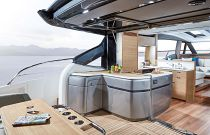 Princess Yachts V65 Express Cockpit Wet bar and Hardtop Overhang