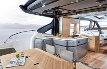 Princess Yachts V65 Outdoor Dining Integrated Aftdeck Living Area