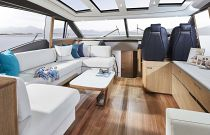 Princess Yachts V65 U-Shaped Salon Sofa