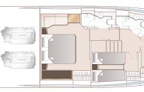 Princess Yachts V60 Accommodation Deck