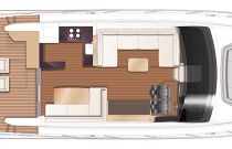 Princess Yachts V60 Main Deck Layout